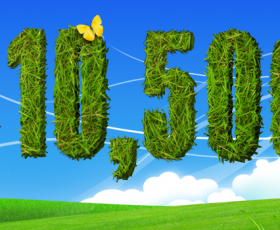 Typography with grass . .